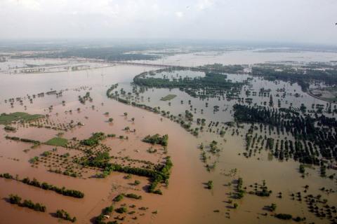 Flooding in Punjab Province, Pakistan, by Multan, Pakistan